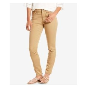 Levis 311 Shaping Skinny Ankle Jeans White